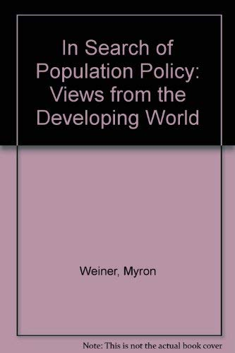 9780309022422: In Search of Population Policy: Views from the Developing World