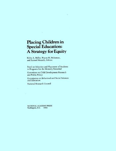 9780309032476: Placing Children in Special Education: A Strategy for Equity