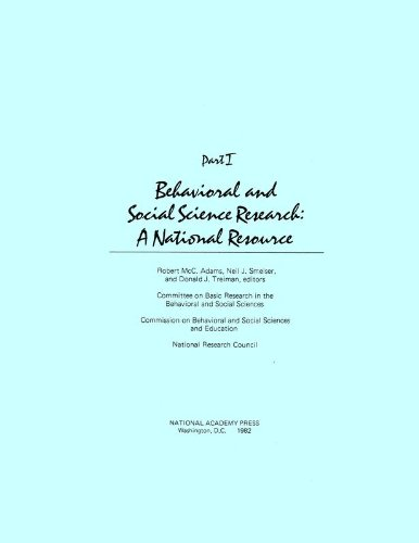 9780309032780: Behavioral and Social Science Research: A National Resource, Part I (Pt. 1)