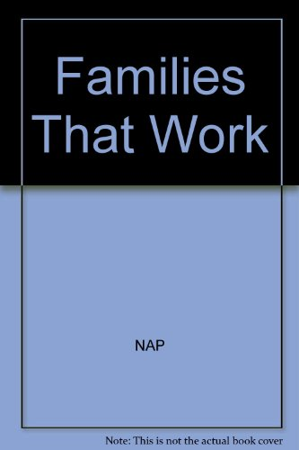 Families That Work : Children in a: Kamerman, Sheila B.