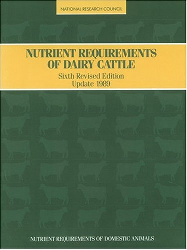 Nutrient Requirements of Dairy Cattle/1989/Book and Disk: Council, National Research;