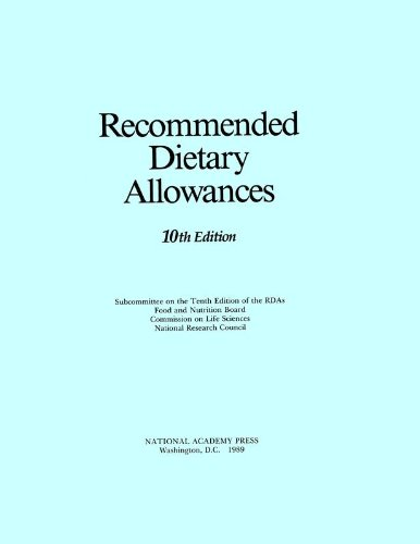 9780309040419: Recommended Dietary Allowances: 10th Edition (Dietary Reference Intakes)