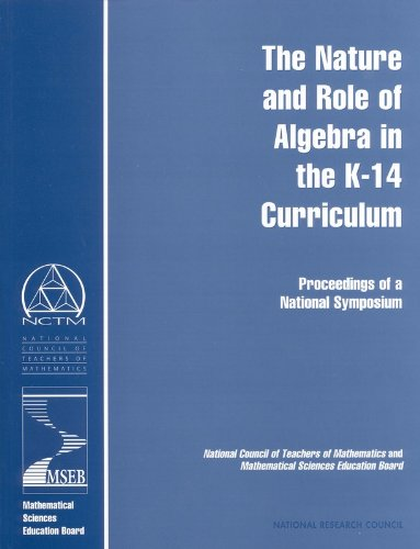 The Nature and Role of Algebra in: Center for Science,