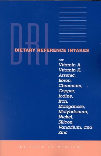 9780309072793: Dietary Reference Intakes for Vitamin A, Vitamin K, Arsenic, Boron, Chromium, Copper, Iodine, Iron, Manganese, Molybdenum, Nickel, Silicon, Vanadium, and Zinc