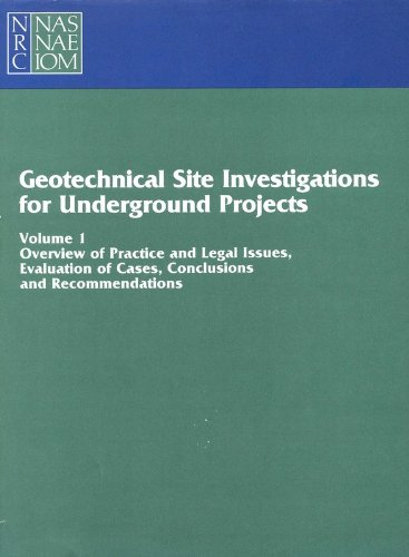 9780309077828: Geotechnical Site Investigations for Underground Projects: Volume 1 (v. 1 & 2)