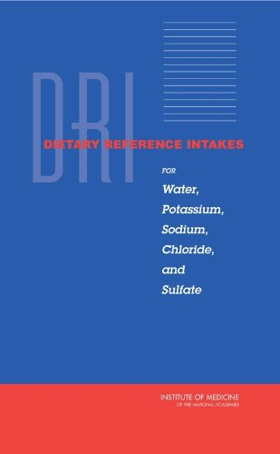 Dietary Reference Intakes for Water, Potassium, Sodium, Chloride, and Sulfate (Hardback): Panel on ...