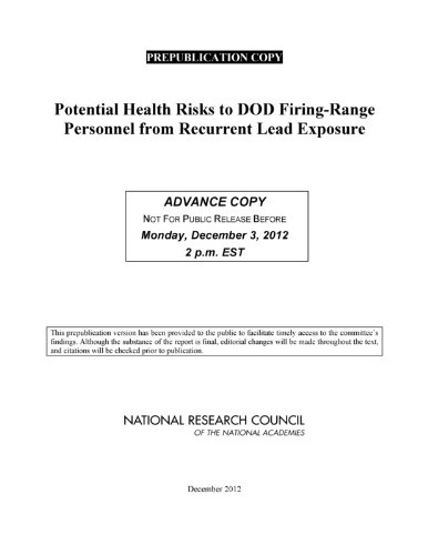 9780309267366: Potential Health Risks to DOD Firing-Range Personnel from Recurrent Lead Exposure