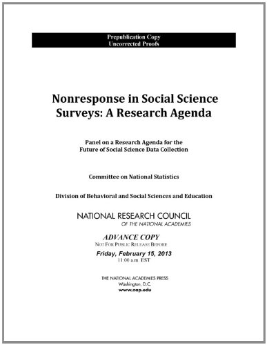 9780309272476: Nonresponse in Social Science Surveys: A Research Agenda
