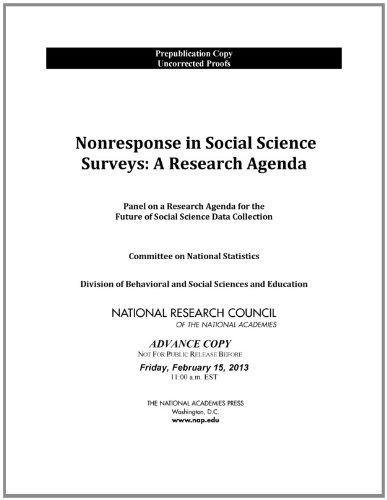 9780309272476: Nonresponse in Social Science Surveys: A Research Agenda