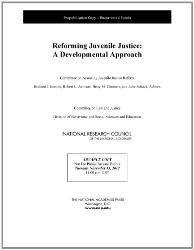 9780309278904: Reforming Juvenile Justice: A Developmental Approach