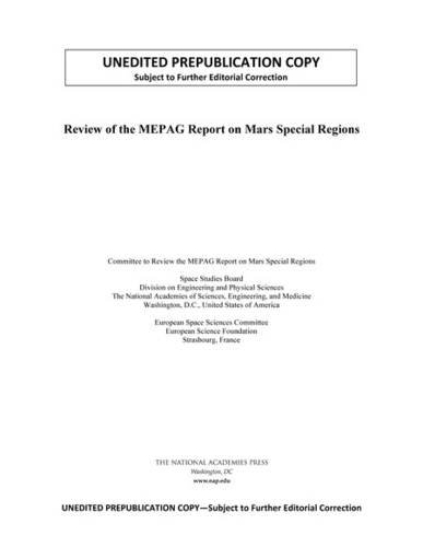 9780309379045: Review of the MEPAG Report on Mars Special Regions