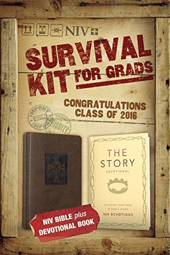 9780310003830: NIV, 2016 Survival Kit for Grads: NIV Bible plus Devotional Book, The Story Devotional