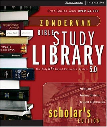 9780310230540: Zondervan Bible Study Library: Scholar's Edition 5.0