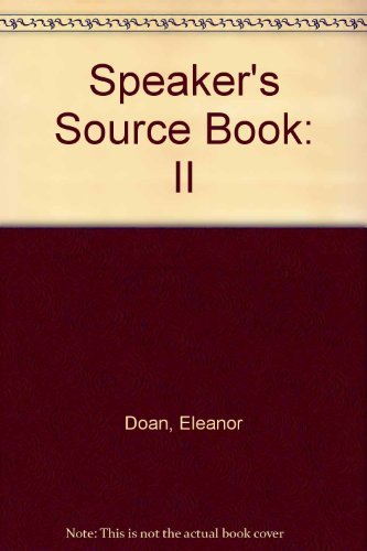 Speakers Sourcebook II (0310242010) by Eleanor Doan