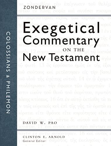 Colossians and Philemon (Hardcover): David W. Pao