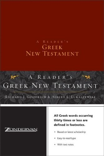 9780310248880: A Reader's Greek New Testament