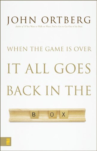 9780310253501: When the Game Is Over, It All Goes Back in the Box