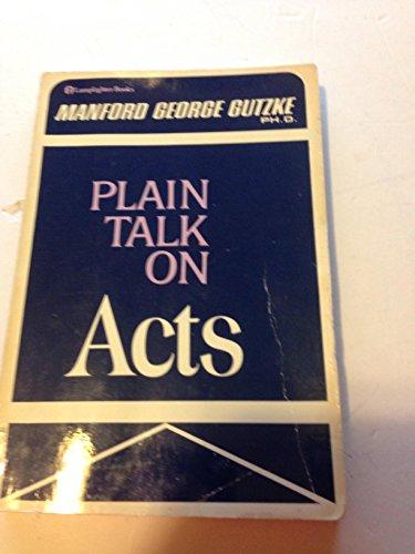 9780310255017: Plain Talk on Acts