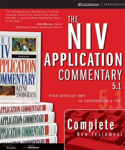 9780310256359: The New Testament, NIV Application Commentary 5.1 for Windows (NIV Application Commentary, The)