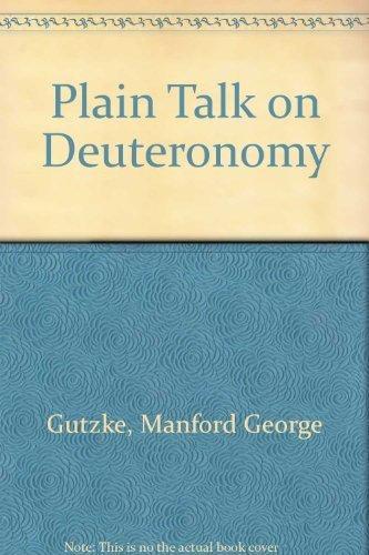 9780310256915: Plain Talk on Deuteronomy