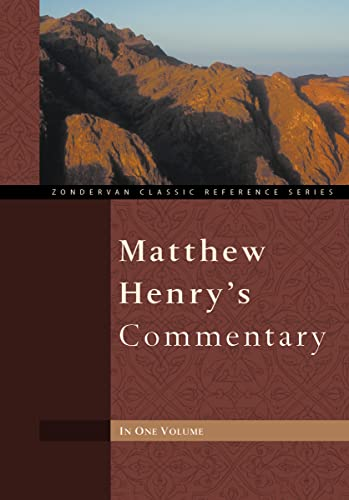 9780310260103: Matthew Henry's Commentary One Volume