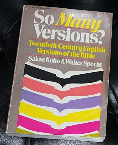 9780310269410: So many versions? : Twentieth century English versions of the Bible