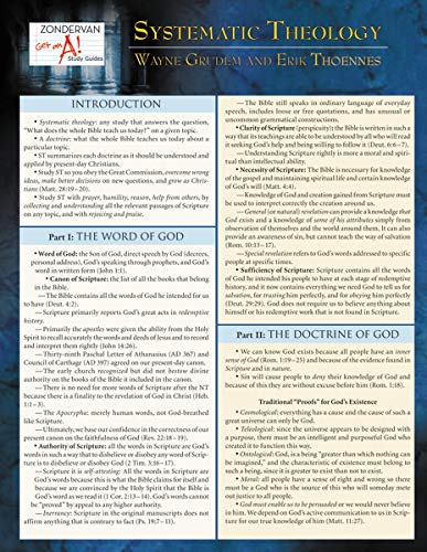 9780310273196: Systematic Theology Laminated Sheet (Zondervan Get an A! Study Guides)