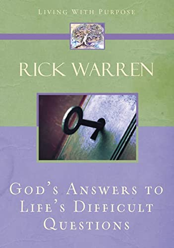 9780310273936: God's Answers to Life's Difficult Questions (Living with Purpose)