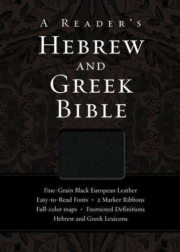 9780310325895: A Reader's Hebrew and Greek Bible: Fine-Grain Black European Leather
