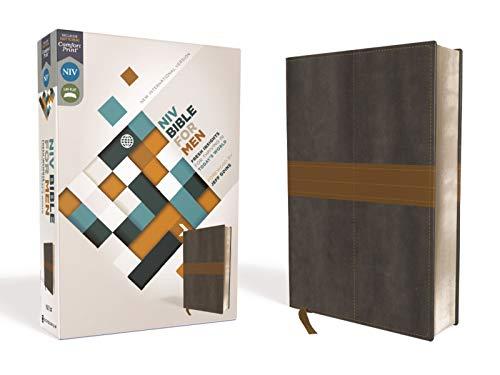 9780310410201: Niv Bible for Men: New International Version, Charcoal/tan, Italian Duo-tone