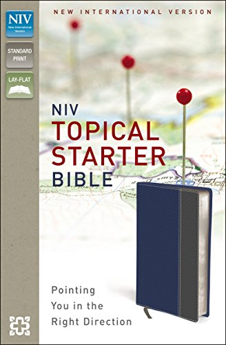 9780310411154: NIV, Topical Starter Bible, Imitation Leather, Blue/Gray