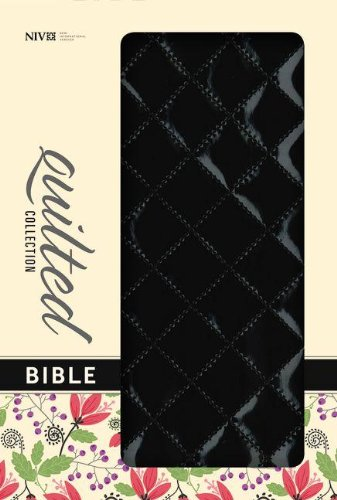 9780310411581: NIV, Quilted Collection Bible, Imitation Leather, Black, Red Letter Edition