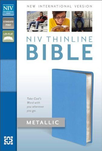 9780310411680: NIV, Thinline Bible Metallic, Bonded Leather, Blue, Red Letter Edition