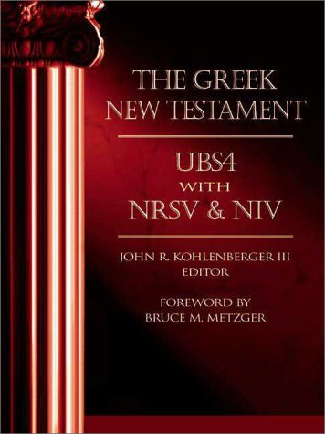 9780310414001: The Greek New Testament: Ubs4 With Nrsv & Niv