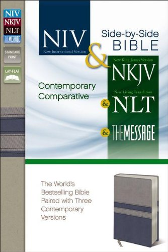 9780310417286: Contemporary Comparative Side-by-Side Bible: NIV NKJV NLT The Message: The World's Bestselling Bible Paired with Three Contemporary Versions