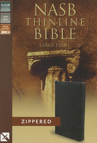 9780310421221: NASB, Thinline Zippered Collection Bible, Large Print, Bonded Leather, Black, Red Letter Edition