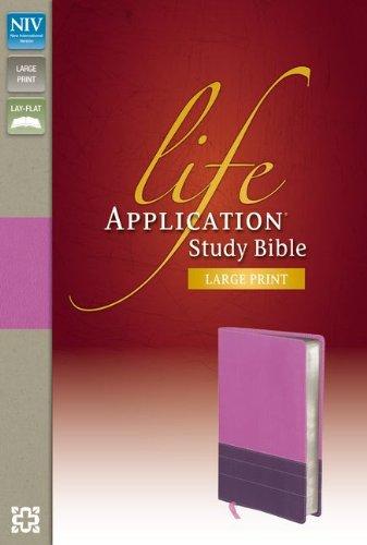 9780310421306: NIV, Life Application Study Bible, Large Print, Imitation Leather, Purple/Pink, Indexed