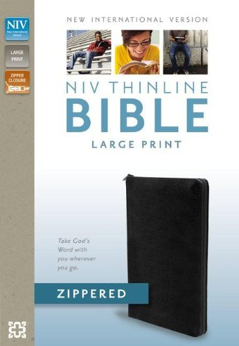 9780310421375: NIV, Thinline Zippered Collection Bible, Large Print, Bonded Leather, Black