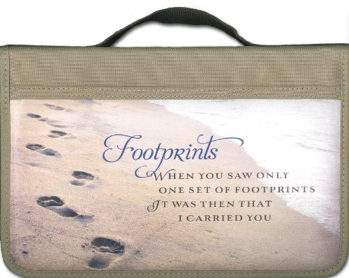 9780310421382: Footprints Canvas Large Book and Bible Cover