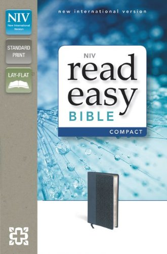 9780310423034: NIV, ReadEasy Bible, Compact, Imitation Leather, Blue, Red Letter Edition