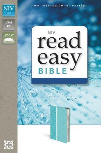 9780310423072: NIV, ReadEasy Bible, Compact, Imitation Leather, Blue, Lay Flat