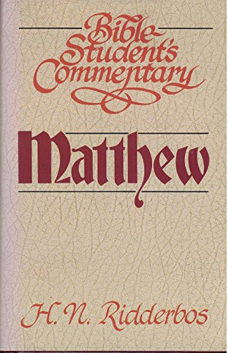 9780310424406: Matthew (Bible student's commentary)