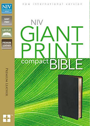 9780310426486: NIV, Giant Print Compact Bible, Giant Print, Premium Leather, Black