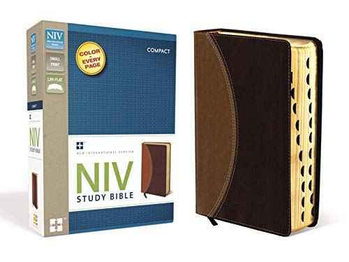 9780310428527: NIV Study Bible, Compact Indexed, Small Print