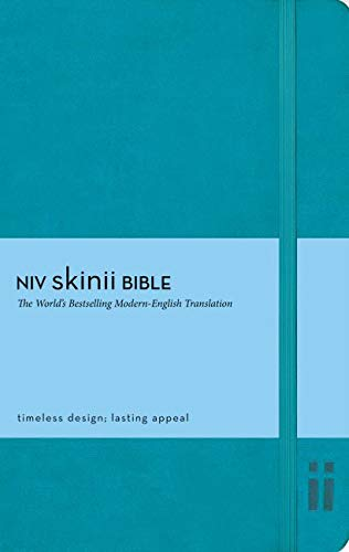 9780310429388: NIV, Skinii Bible, Imitation Leather, Turquoise, Red Letter Edition