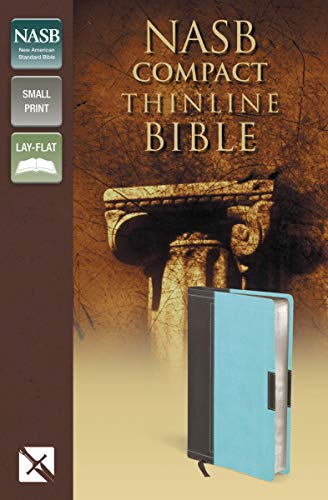9780310429586: NASB, Thinline Bible, Compact, Imitation Leather, Brown/Turquoise, Red Letter Edition