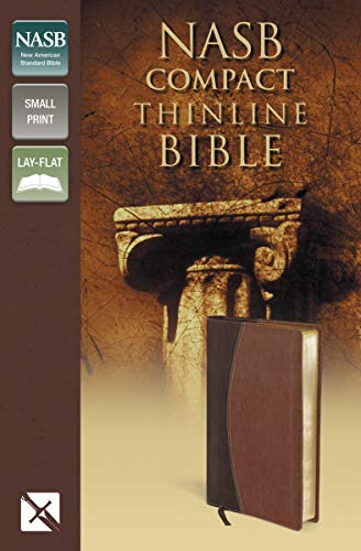 9780310429593: NASB, Thinline Bible, Compact, Imitation Leather, Brown, Red Letter Edition