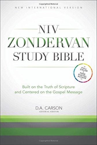 NIV Zondervan Study Bible Indexed (Bonded Leather)