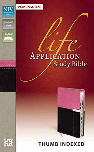 9780310431541: NIV, Life Application Study Bible, Personal Size, Imitation Leather, Pink/Brown, Indexed