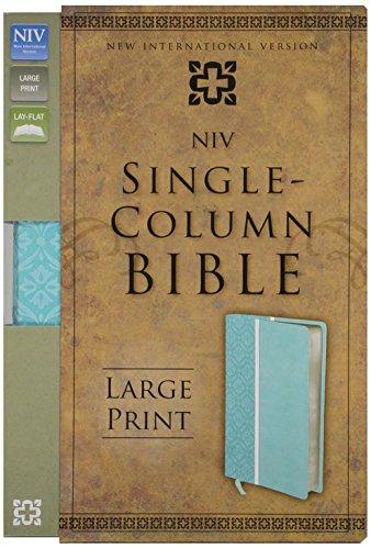 9780310431664: NIV, Single-Column Bible, Large Print, Imitation Leather, Turquoise